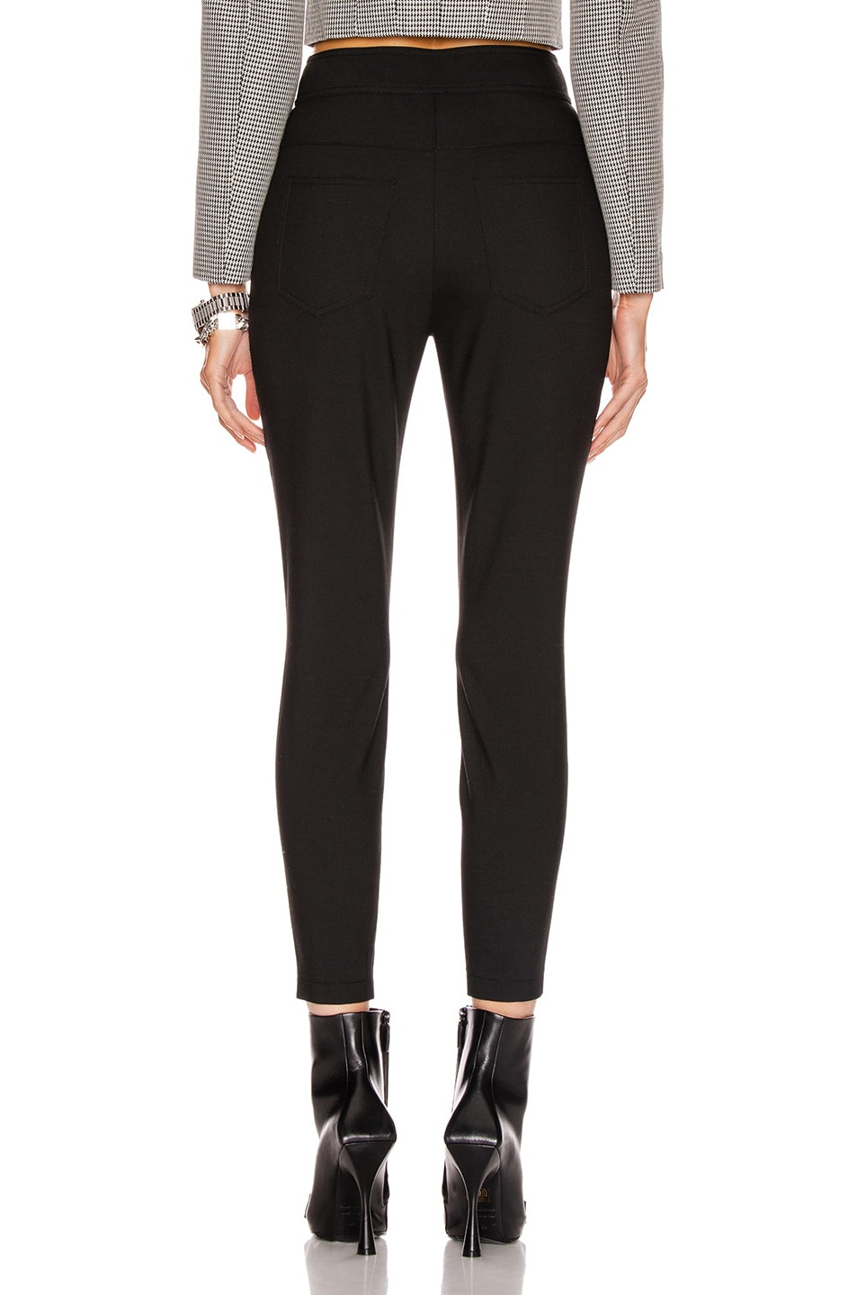 Image 4 of Alexander Wang High Waisted Snap Front Legging in Black