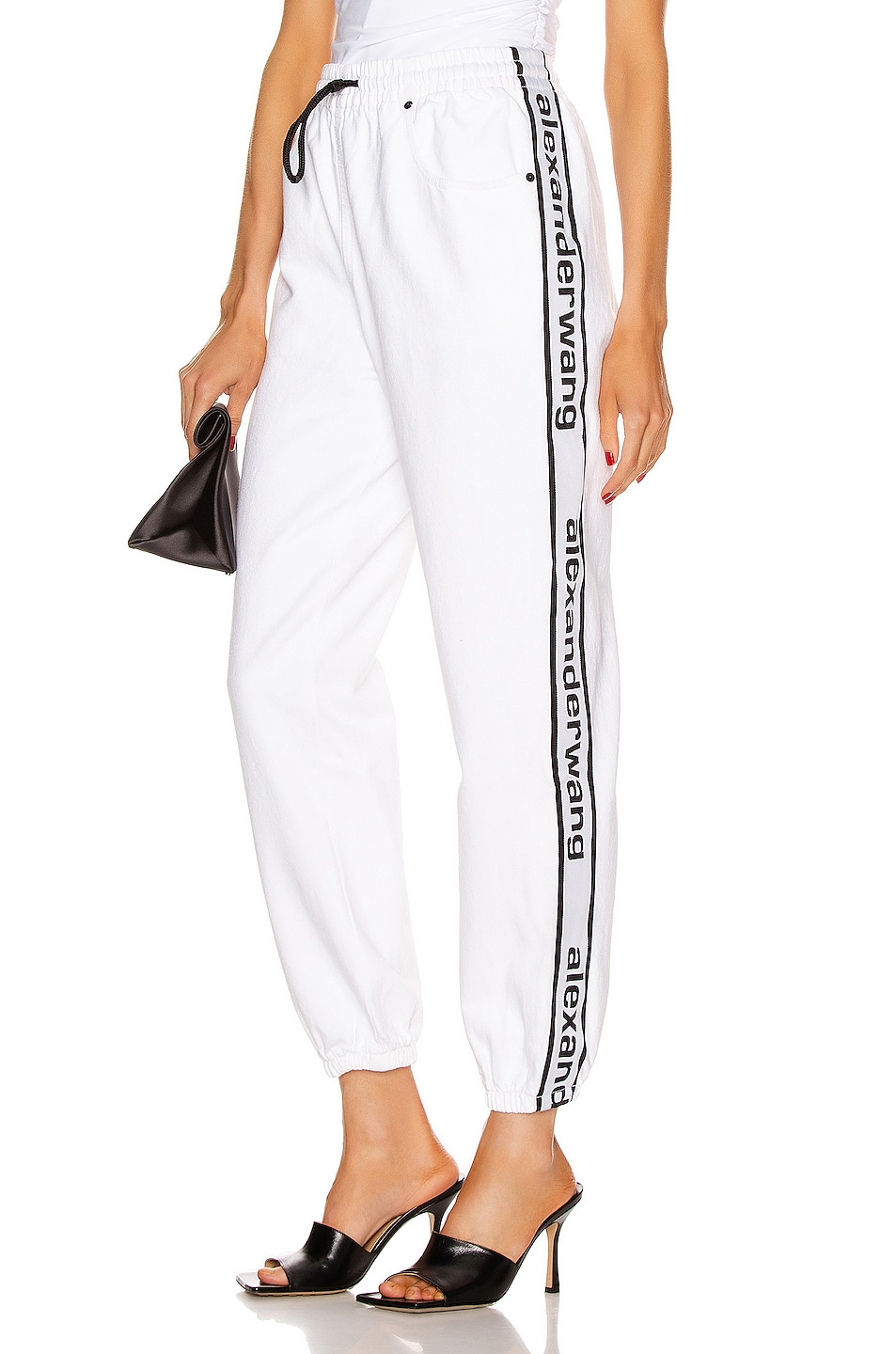 Image 1 of Alexander Wang Track Pant in Optic White