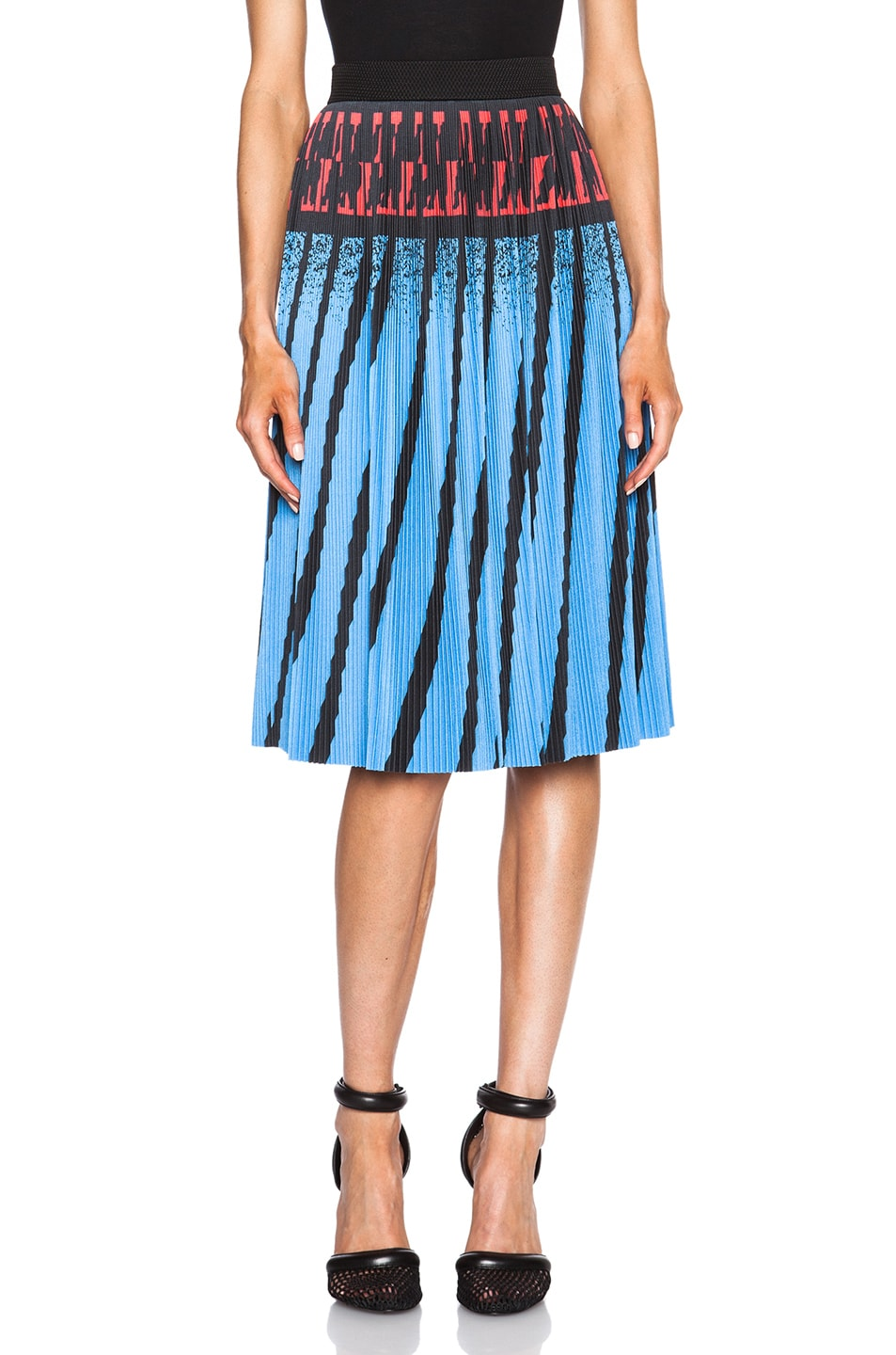 c04089475a Image 1 of Alexander Wang Accordion Pleated A-Line Skirt in Airtex Hazard