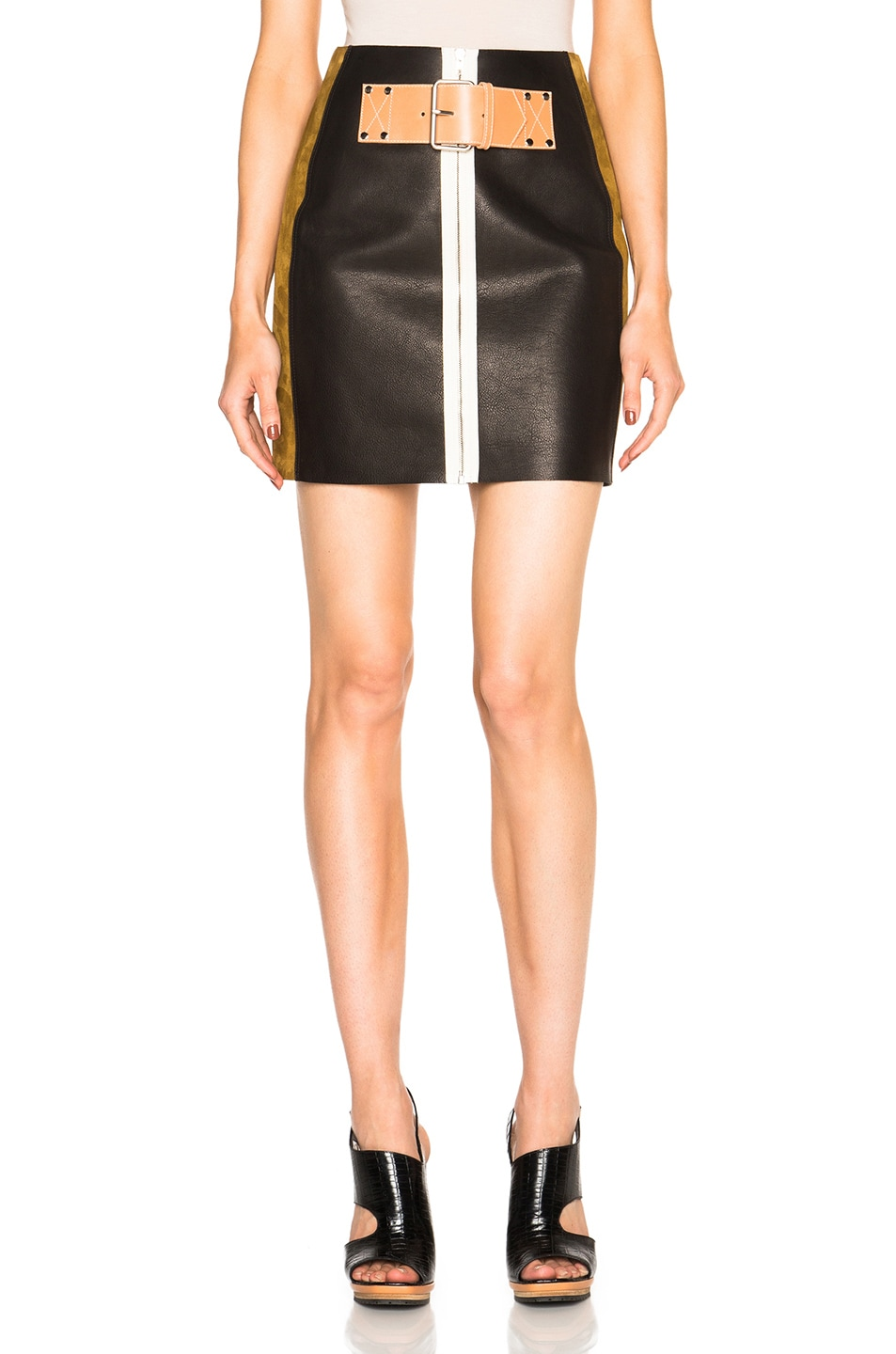 Image 1 of Alexander Wang Patchwork Skirt in Onyx