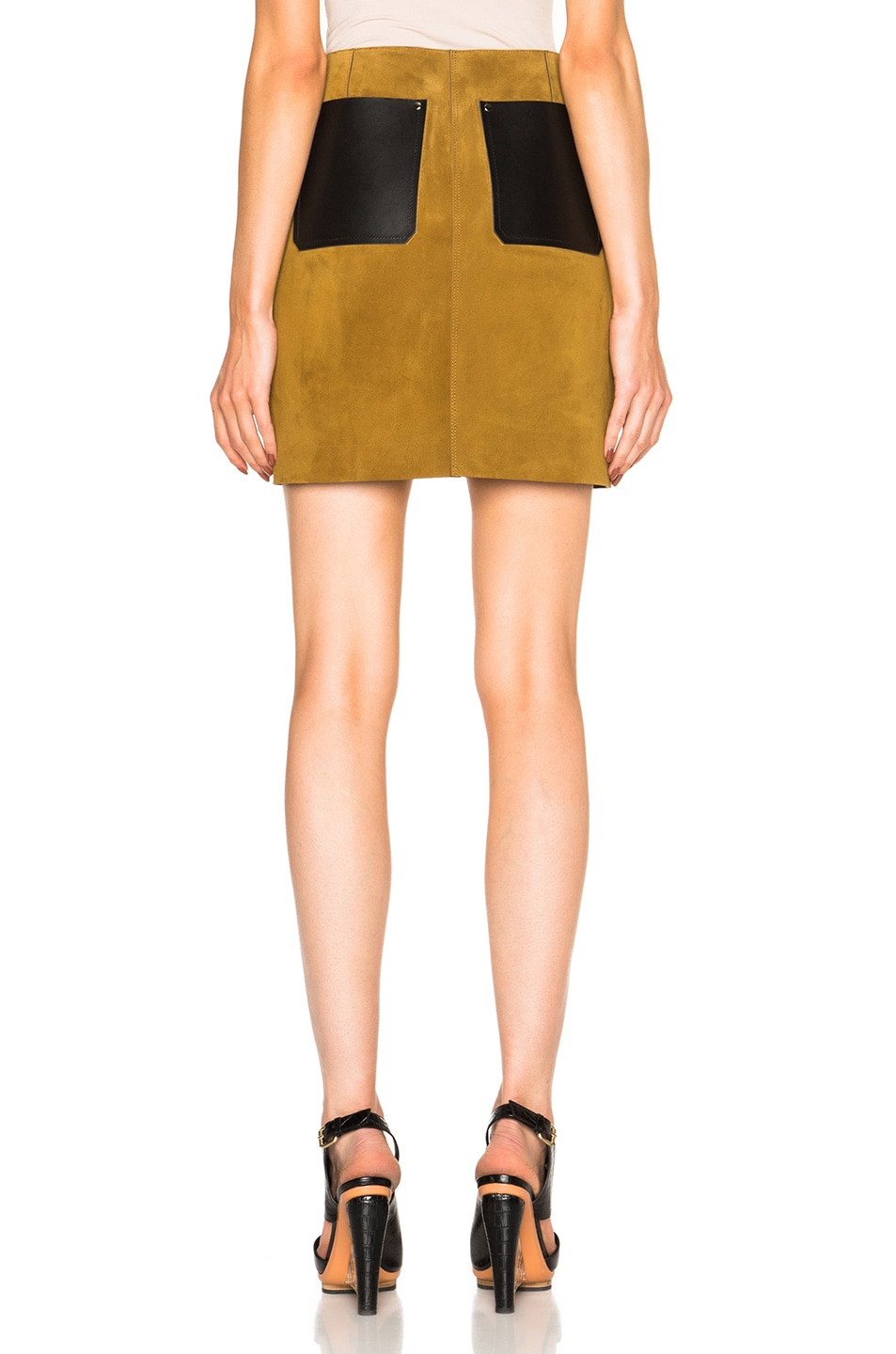 Image 4 of Alexander Wang Patchwork Skirt in Onyx