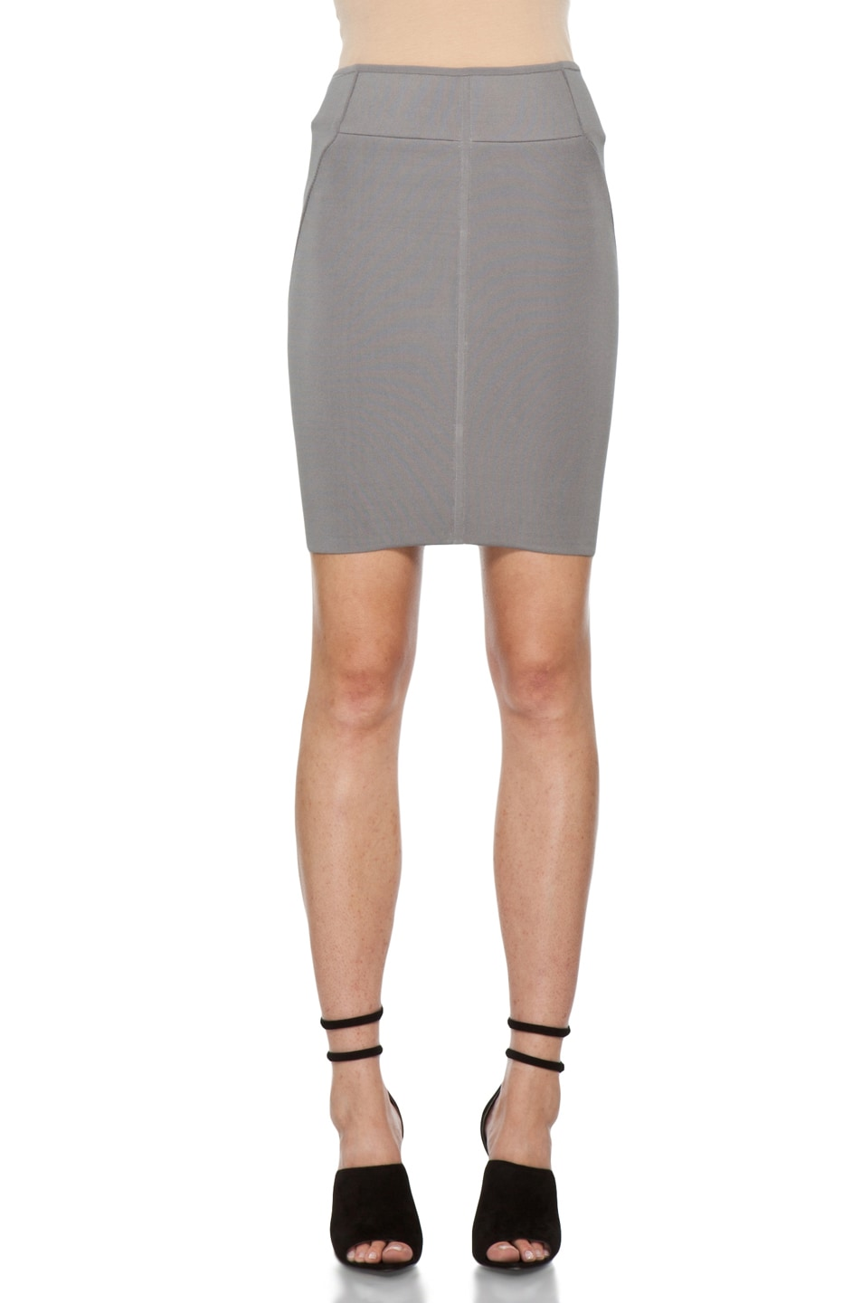 Image 1 of Alexander Wang Stretch Pencil Skirt in Concrete