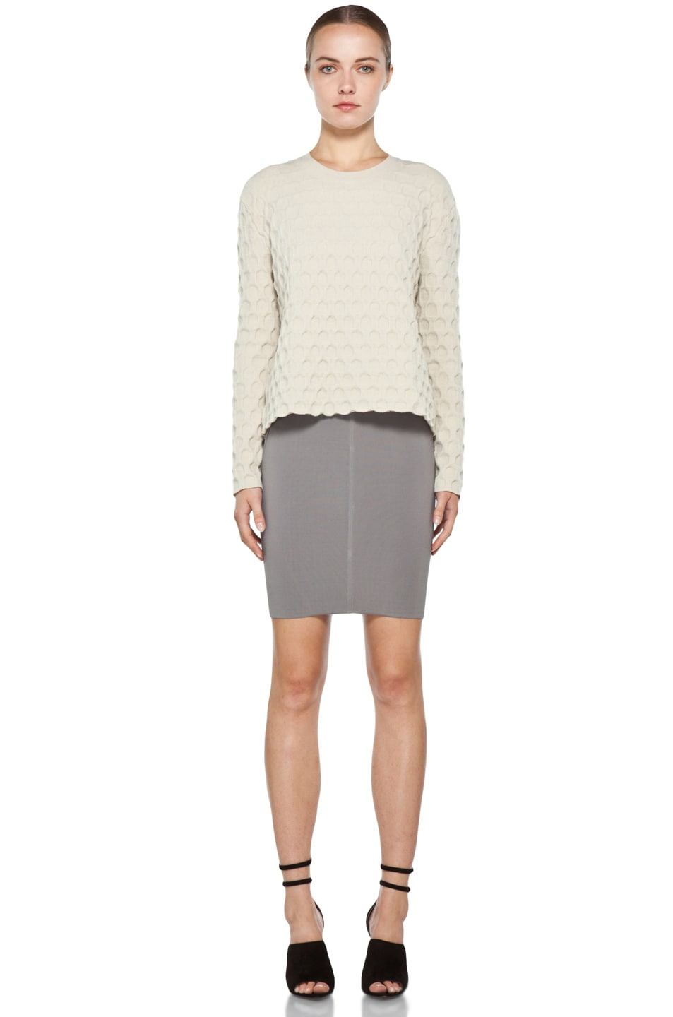 Image 5 of Alexander Wang Stretch Pencil Skirt in Concrete
