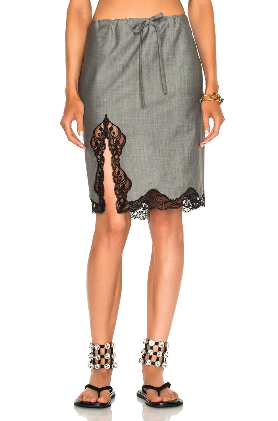 Image 1 of Alexander Wang Above the Knee Skirt in Dove Grey