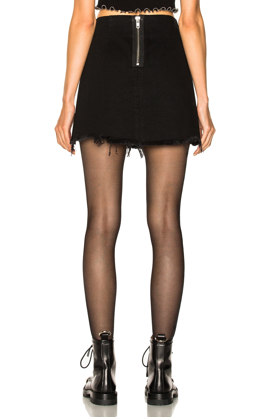 Image 3 of Alexander Wang Zip Mini Skirt in Black Fade
