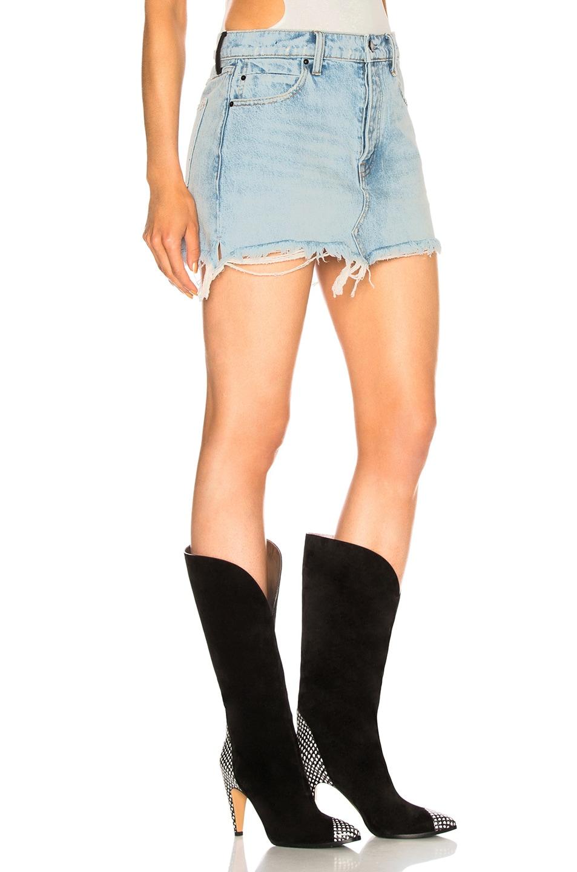 Image 2 of Alexander Wang 5 Pocket Zip Skirt in Bleach