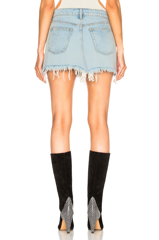 Image 4 of Alexander Wang 5 Pocket Zip Skirt in Bleach