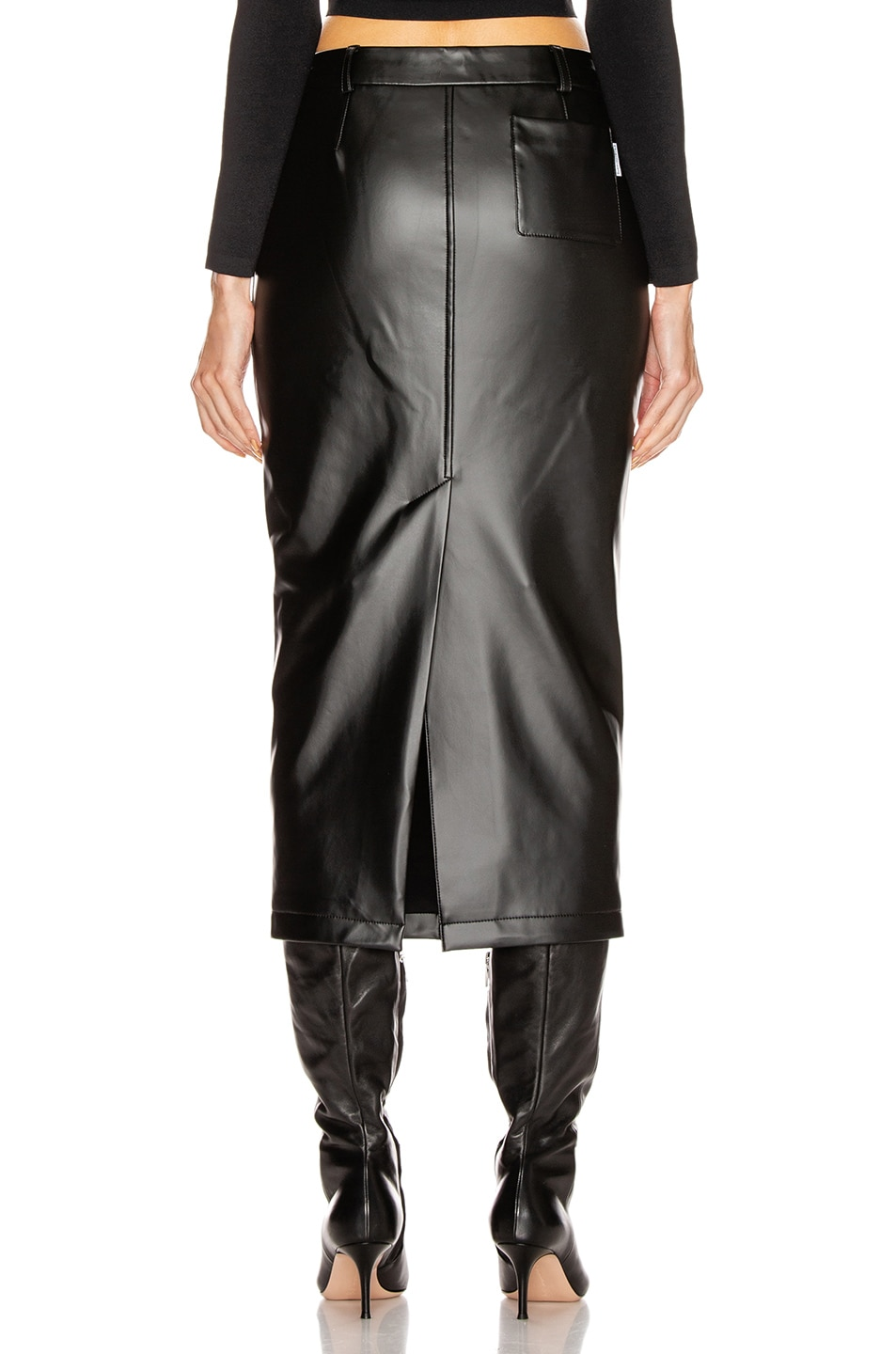 Image 3 of Alexander Wang Peg Skirt in Black
