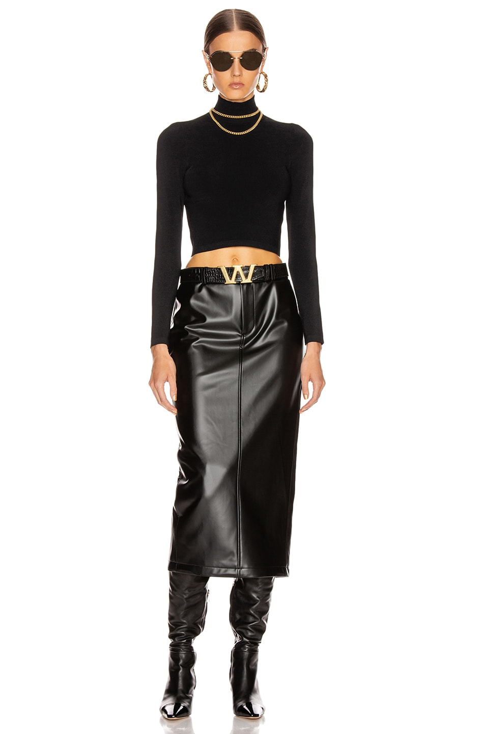Image 4 of Alexander Wang Peg Skirt in Black