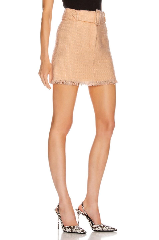 Image 2 of Alexander Wang Tweed Mini Skirt in Blaze