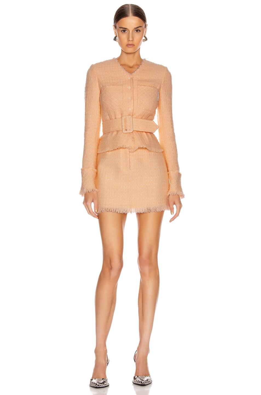 Image 4 of Alexander Wang Tweed Mini Skirt in Blaze