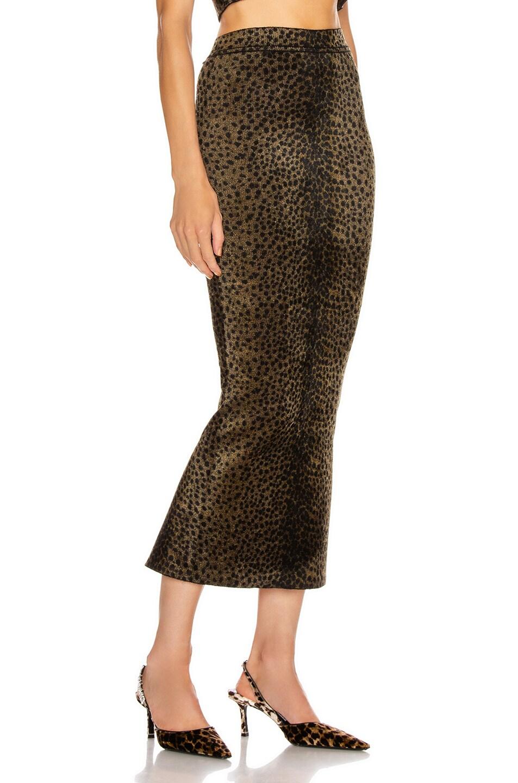 Image 2 of Alexander Wang Ankle Length Skirt in Black & Gold