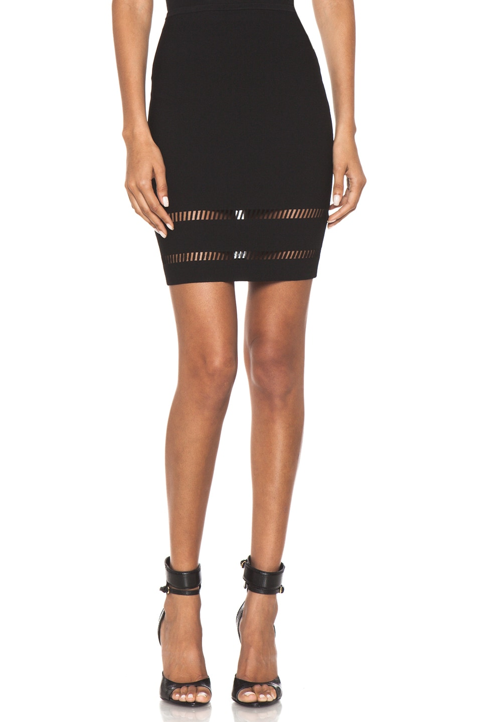 Image 1 of Alexander Wang Suspension Pencil Skirt in Onyx