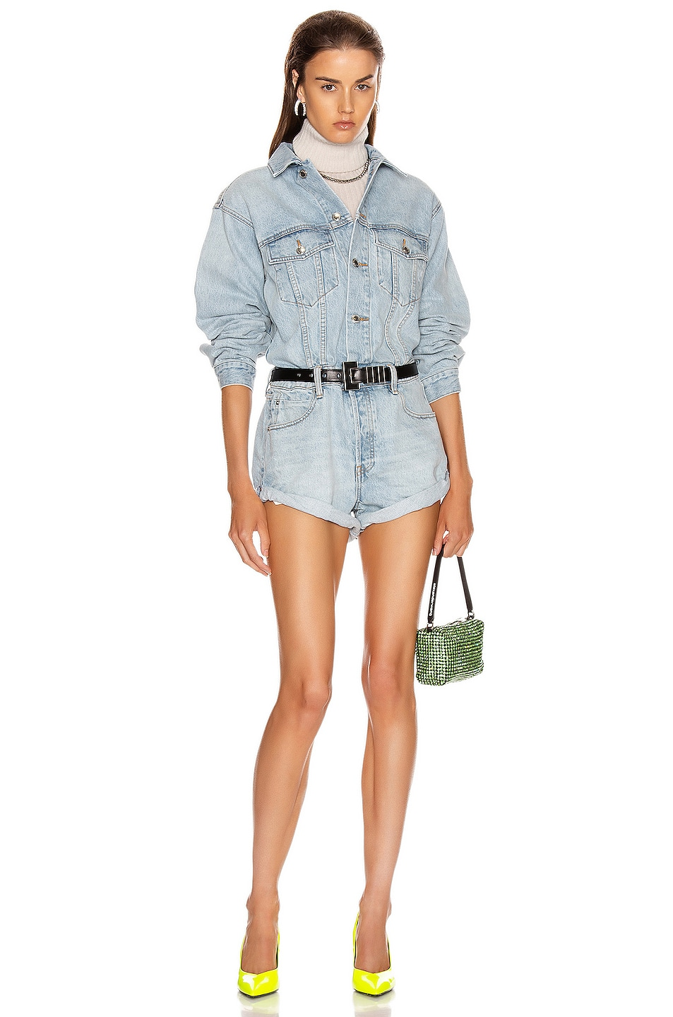 Image 1 of Alexander Wang Short Playsuit in Bleach