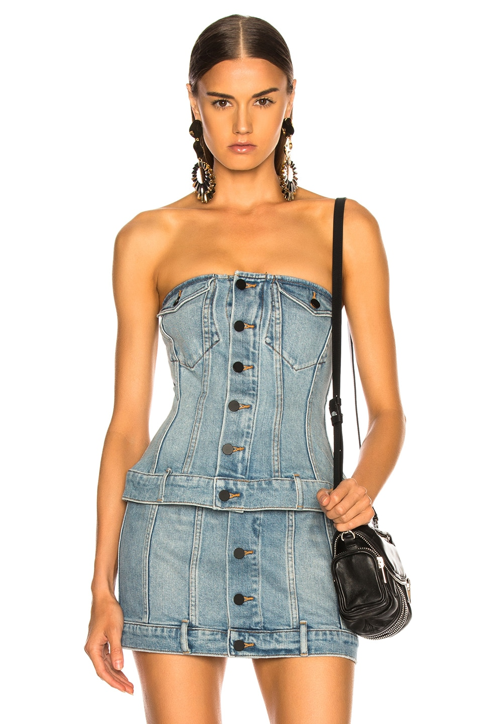 Image 1 of Alexander Wang Strapless Top in Vintage Light Indigo