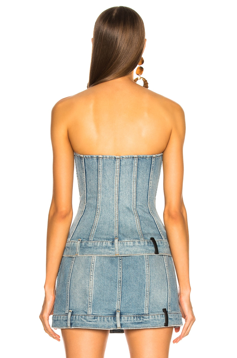Image 3 of Alexander Wang Strapless Top in Vintage Light Indigo