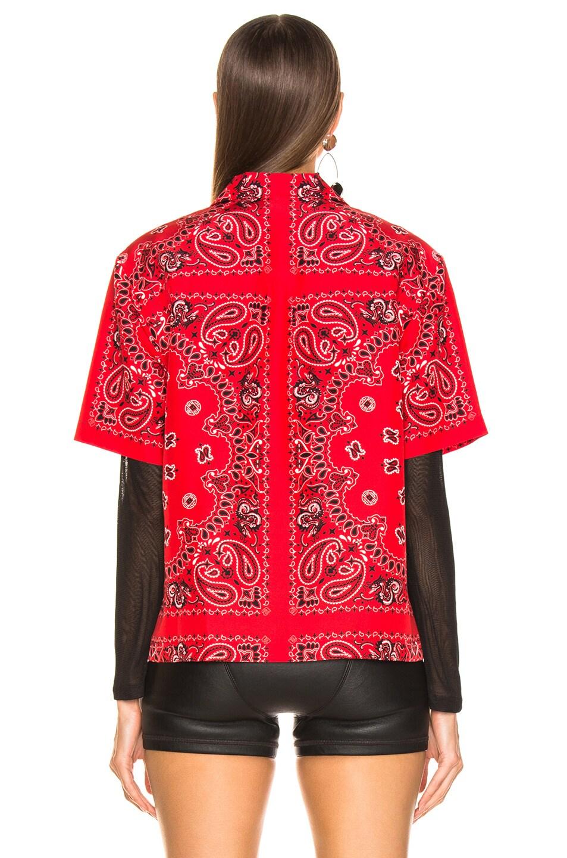 Image 4 of Alexander Wang Bandana Print Hawaiian Shirt in Red