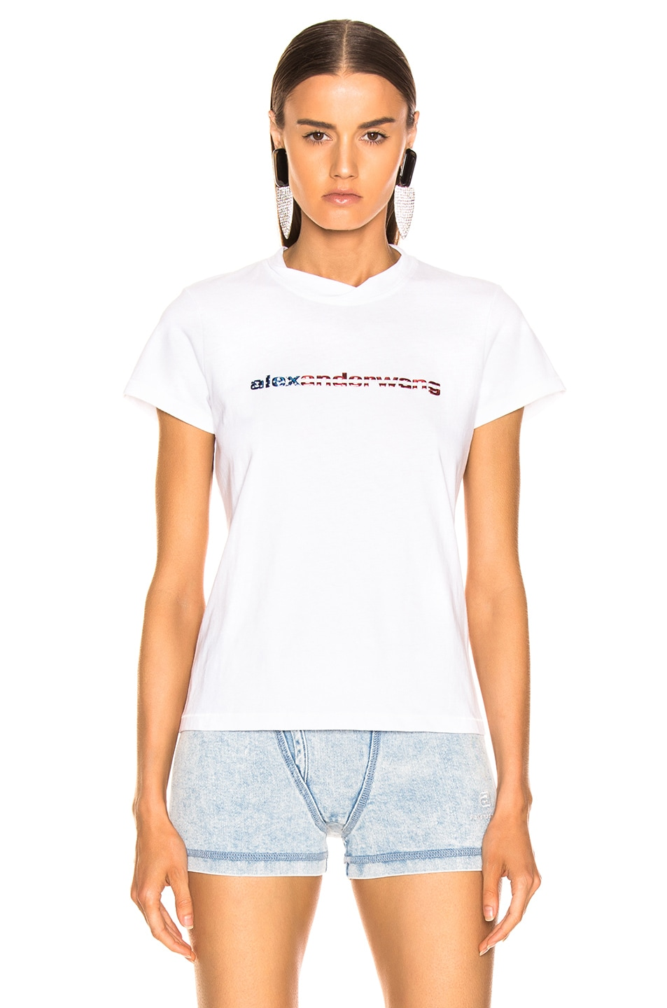 Image 1 of Alexander Wang Logo Decal T-Shirt in White