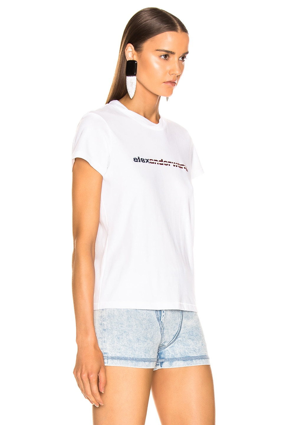 Image 2 of Alexander Wang Logo Decal T-Shirt in White