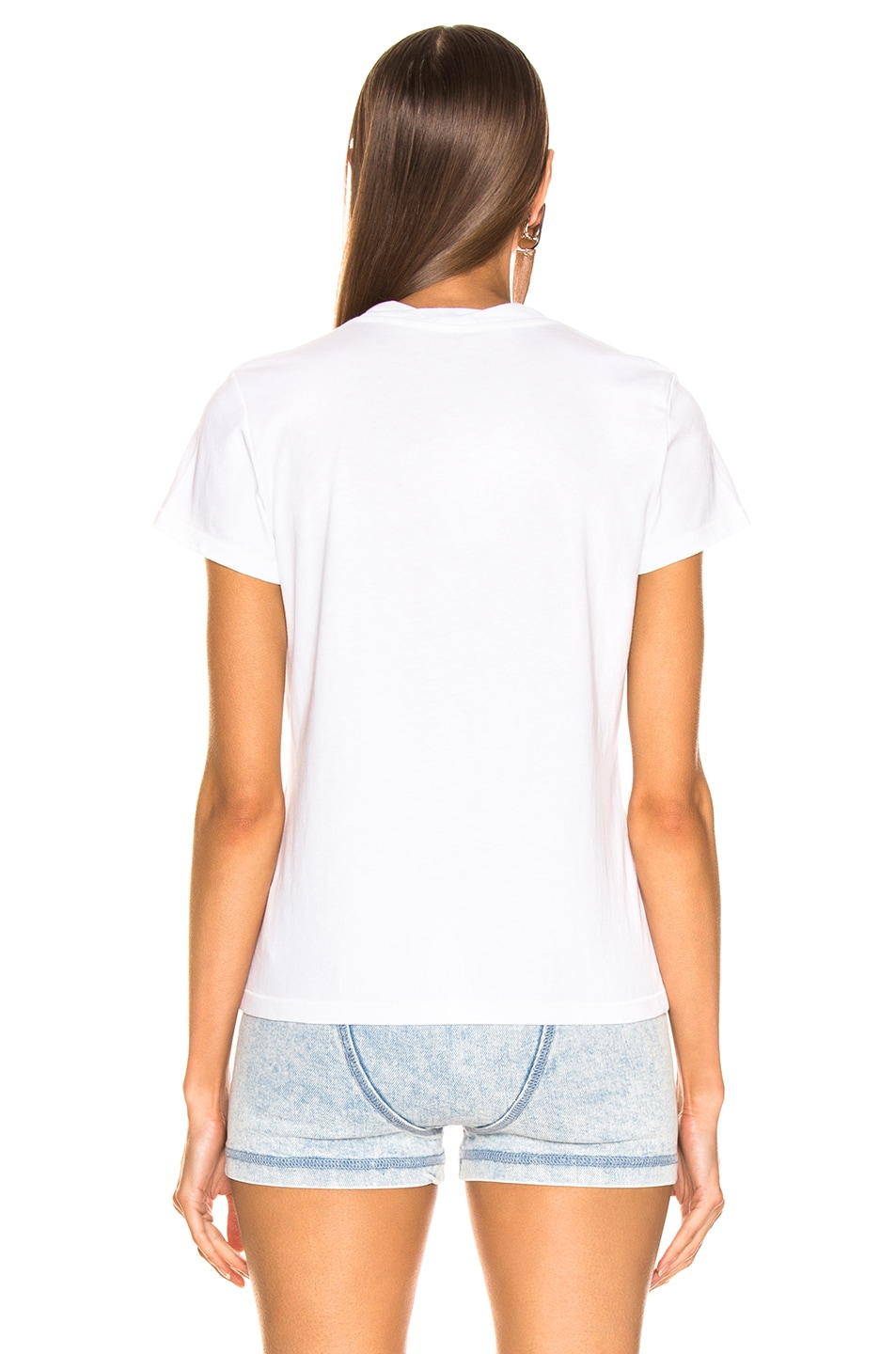 Image 3 of Alexander Wang Logo Decal T-Shirt in White