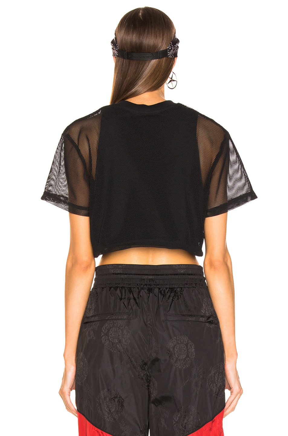 Image 3 of Alexander Wang AAA Logo Mesh T-Shirt in Black