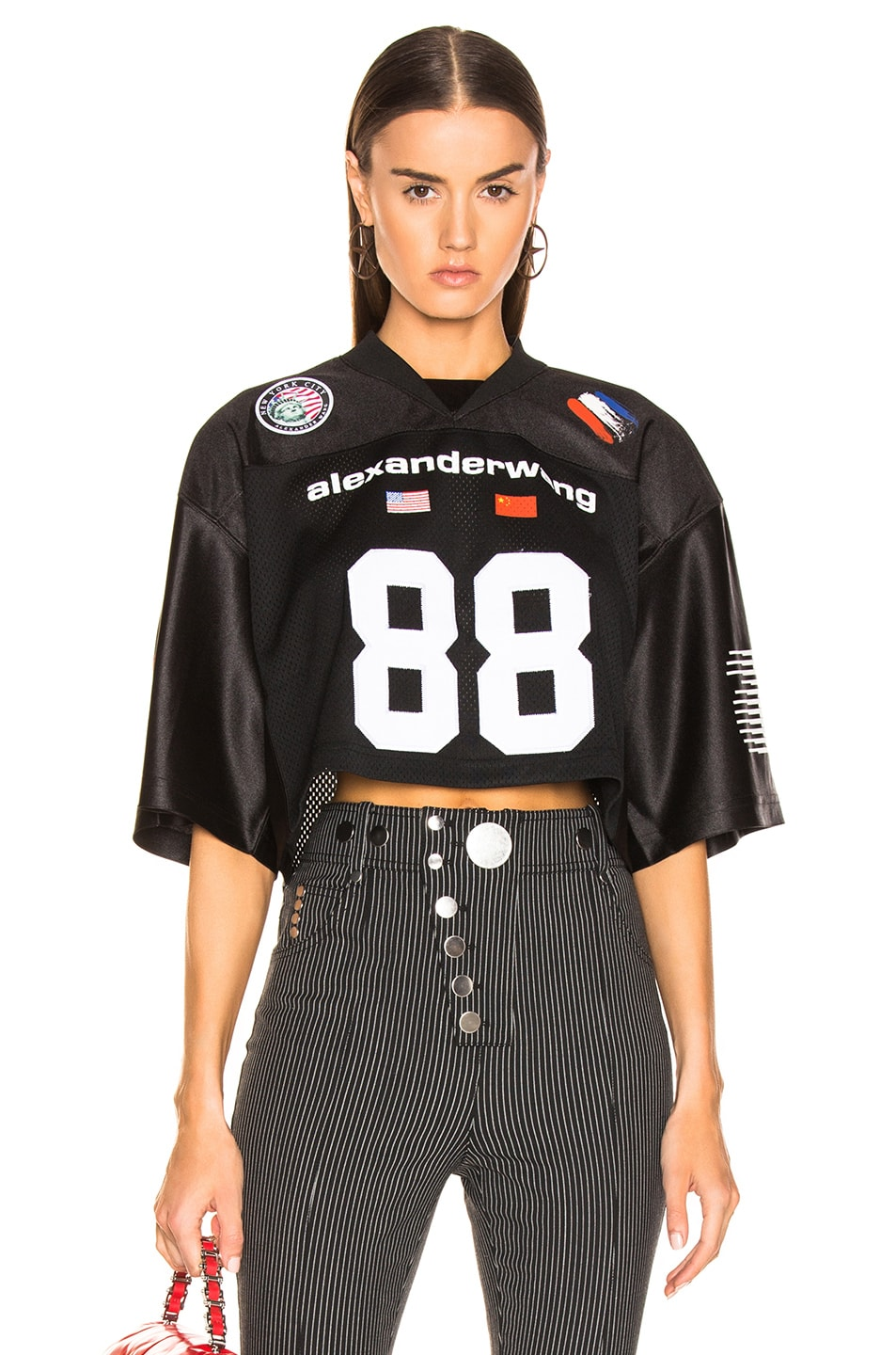 12dc400f17ca1 Image 1 of Alexander Wang Athletic Jersey Crop Top in Black