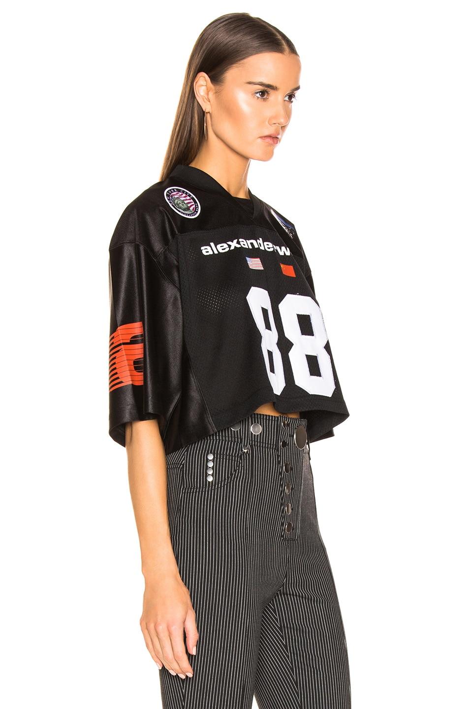 Image 2 of Alexander Wang Athletic Jersey Crop Top in Black