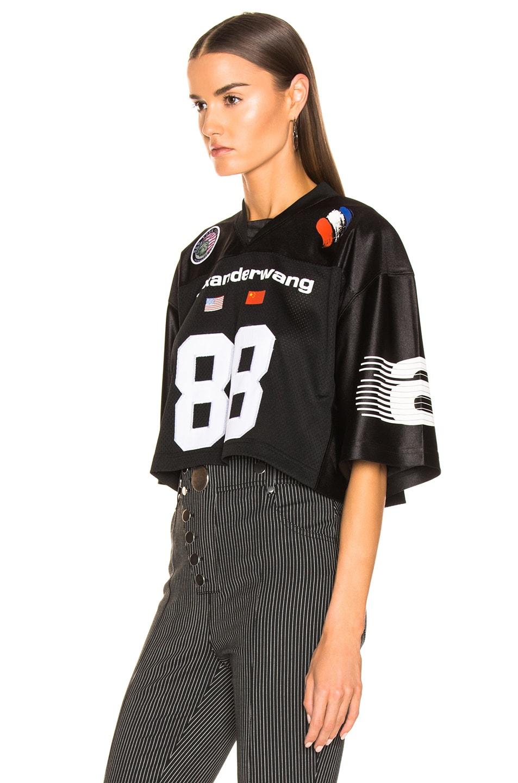 Image 3 of Alexander Wang Athletic Jersey Crop Top in Black