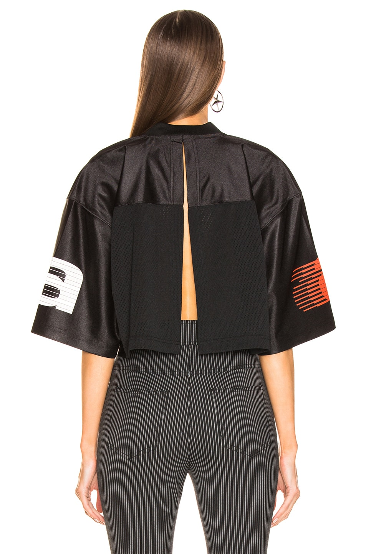 Image 4 of Alexander Wang Athletic Jersey Crop Top in Black