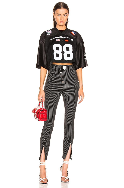 Image 5 of Alexander Wang Athletic Jersey Crop Top in Black