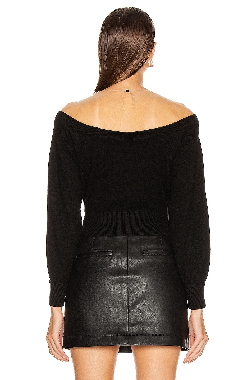 Image 3 of Alexander Wang Fitted Cropped Top in Black