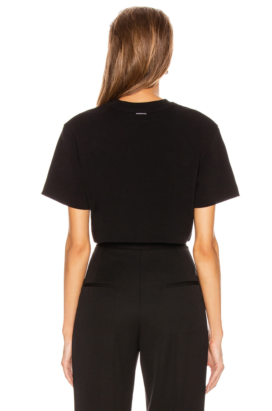 Image 3 of Alexander Wang Chynatown Cropped Tee in Black