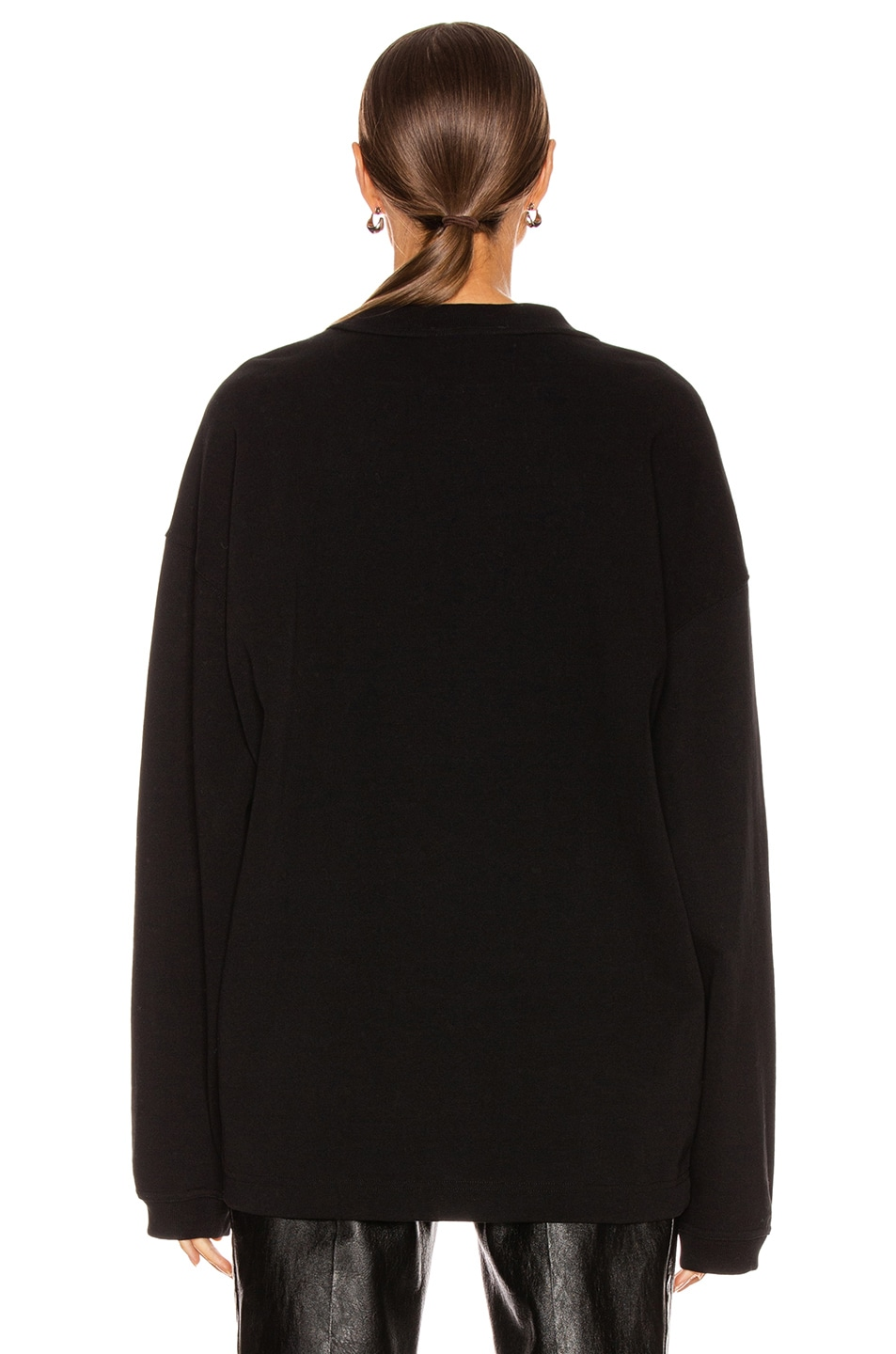 Image 4 of Alexander Wang Chynatown Chain Long Sleeve Top in Black