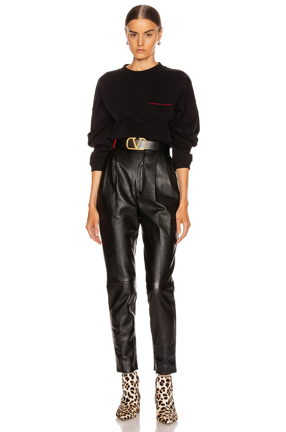 Image 5 of Alexander Wang Chynatown Chain Long Sleeve Top in Black