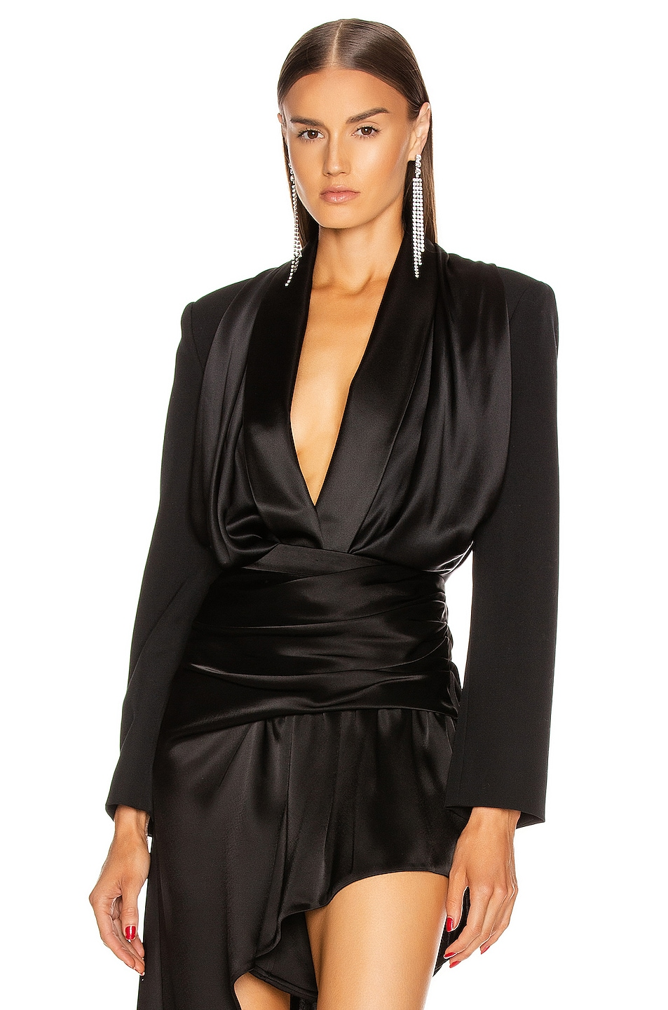 Image 1 of Alexander Wang Blazer Hybrid Bodysuit in Black