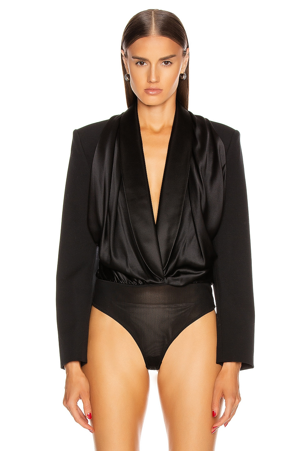 Image 2 of Alexander Wang Blazer Hybrid Bodysuit in Black