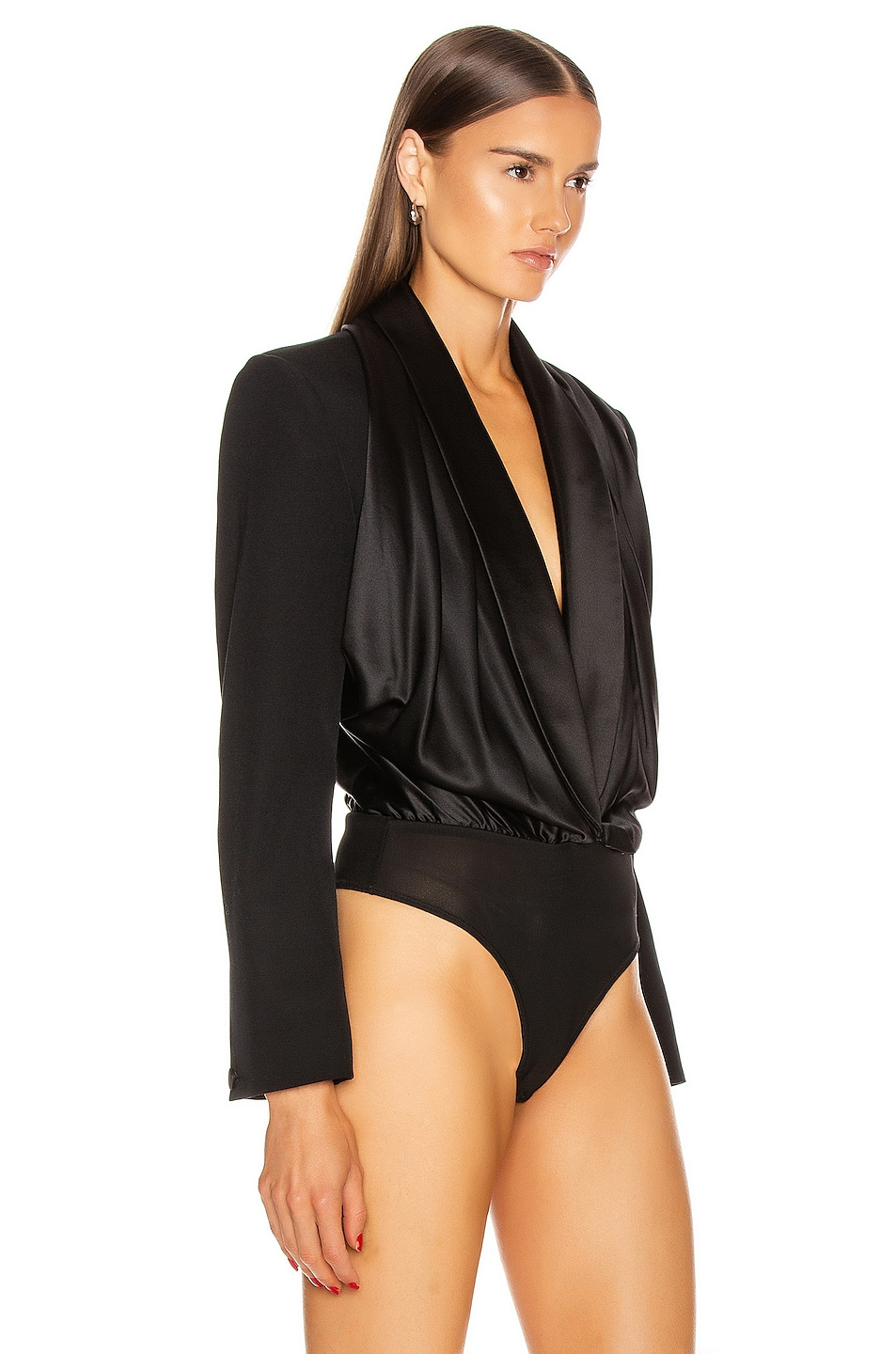 Image 3 of Alexander Wang Blazer Hybrid Bodysuit in Black