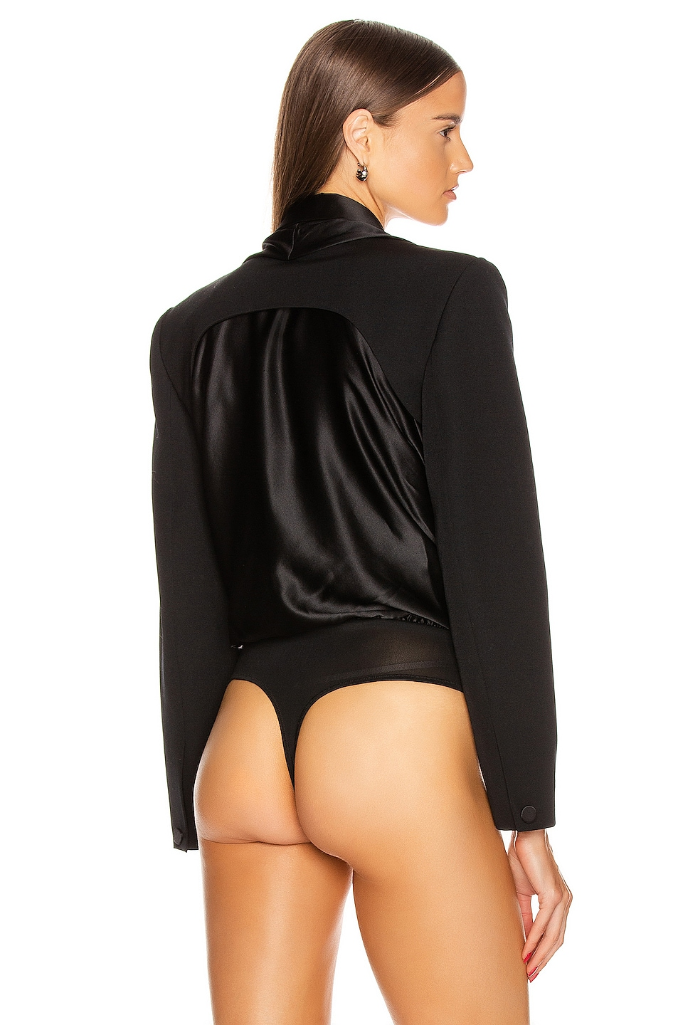 Image 4 of Alexander Wang Blazer Hybrid Bodysuit in Black