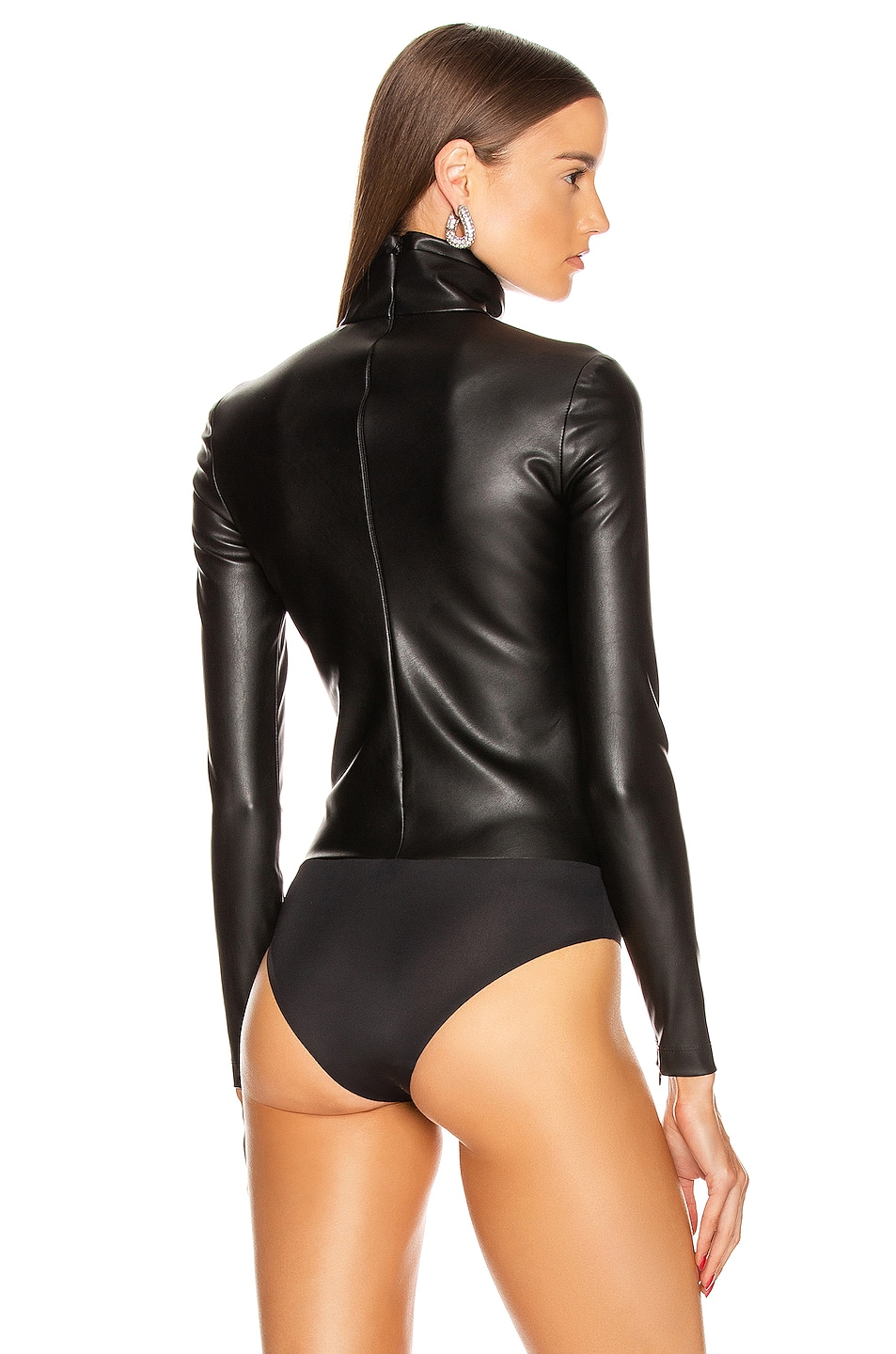 Image 4 of Alexander Wang Long Sleeve Turtleneck Bodysuit in Black