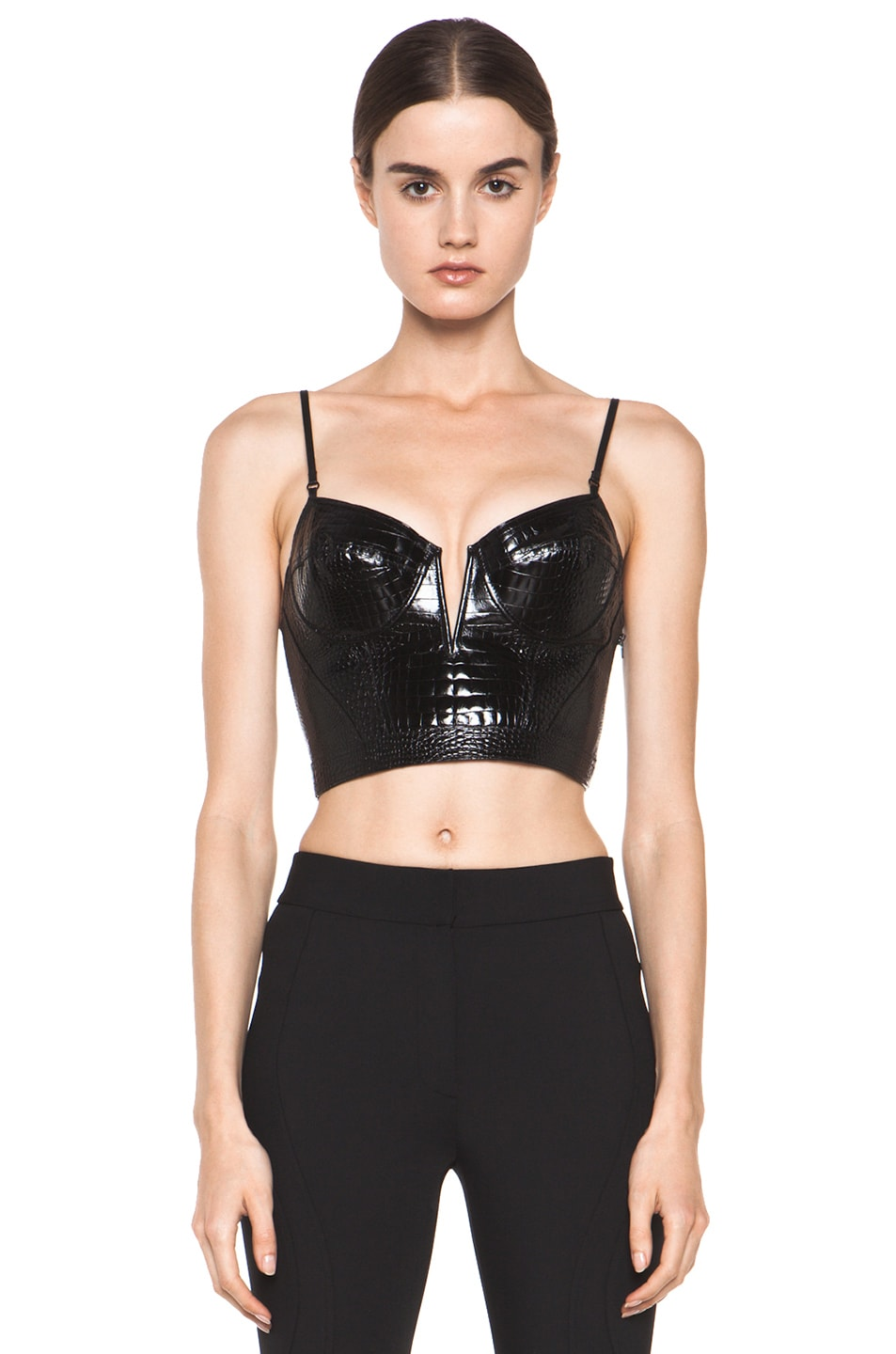 62f5fa592 Image 1 of Alexander Wang Bustier Contouring Seam Top in Black