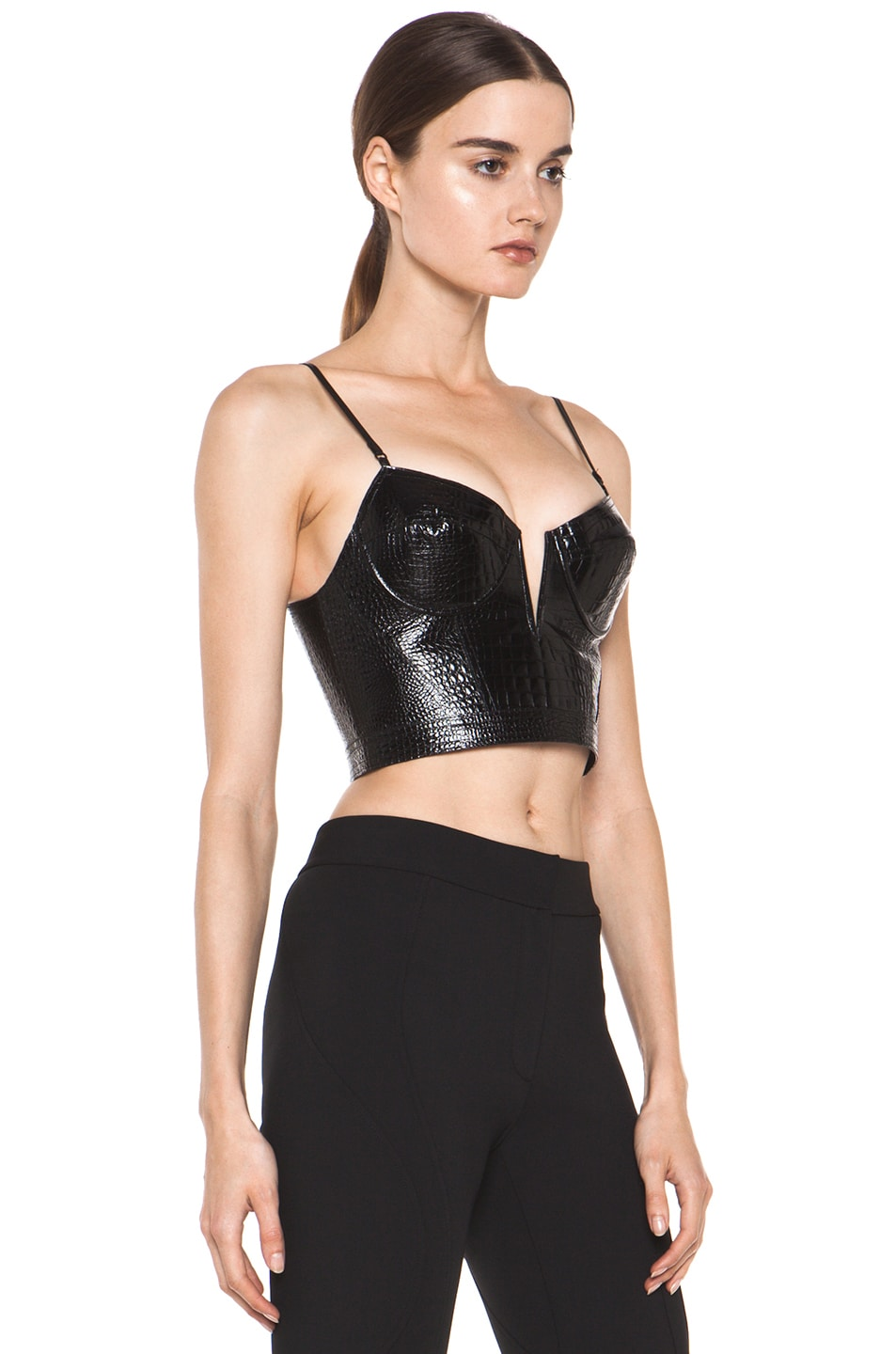 2a21c2aa2 Image 3 of Alexander Wang Bustier Contouring Seam Top in Black