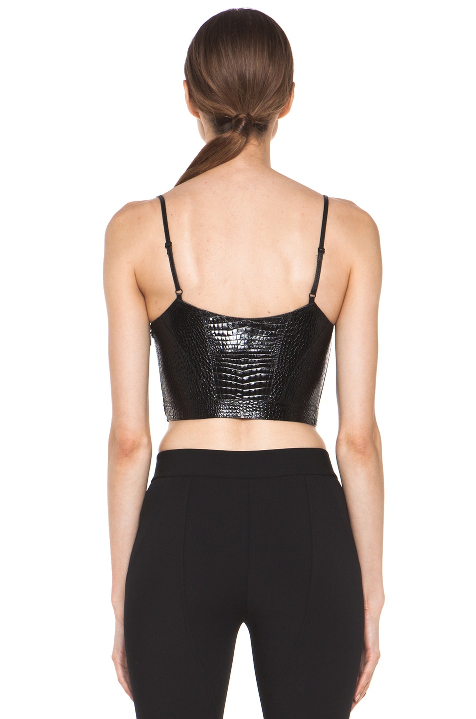 Image 4 of Alexander Wang Bustier Contouring Seam Top in Black