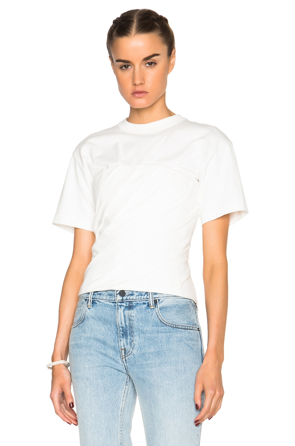 Image 1 of Alexander Wang Draped Bustier Tee in Silica