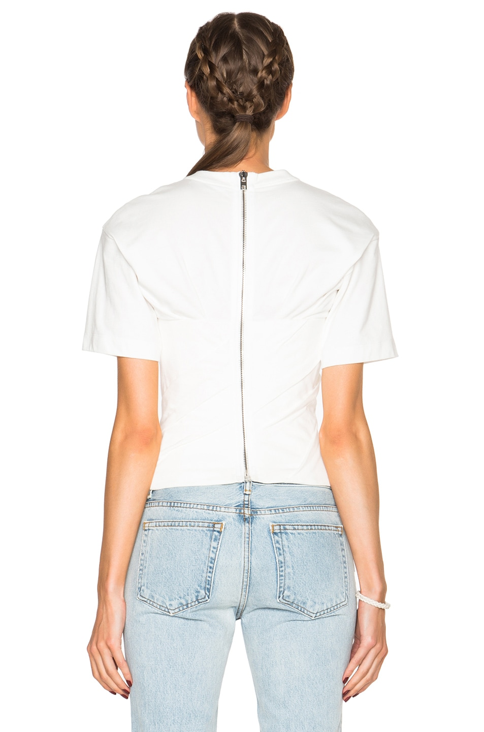 Image 4 of Alexander Wang Draped Bustier Tee in Silica