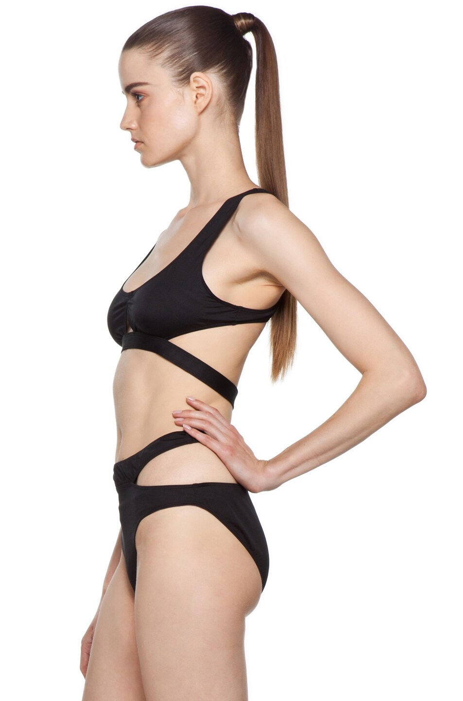 Image 2 of Alexander Wang Bikini with Cut Out Detail in Black