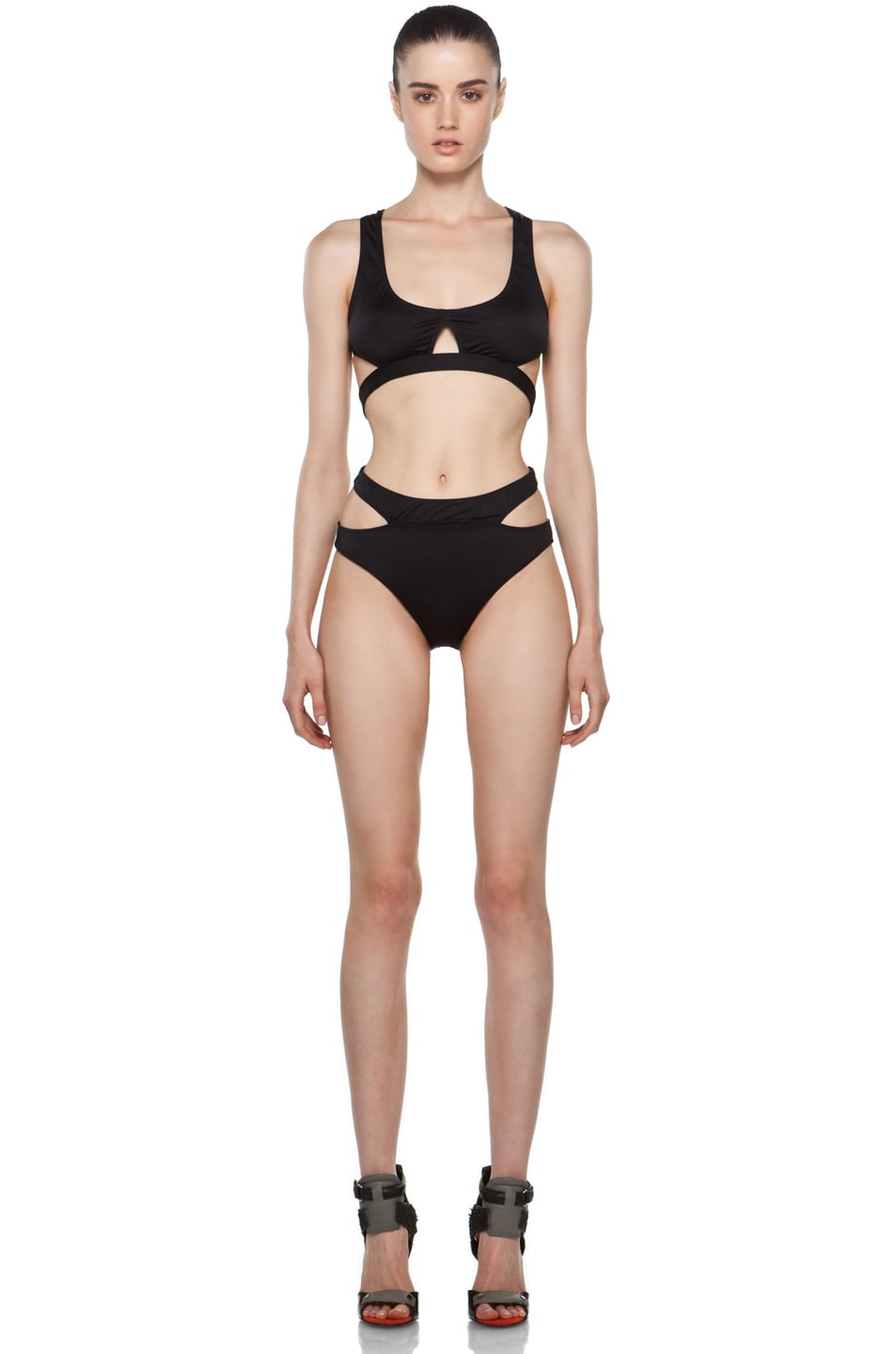 Image 5 of Alexander Wang Bikini with Cut Out Detail in Black