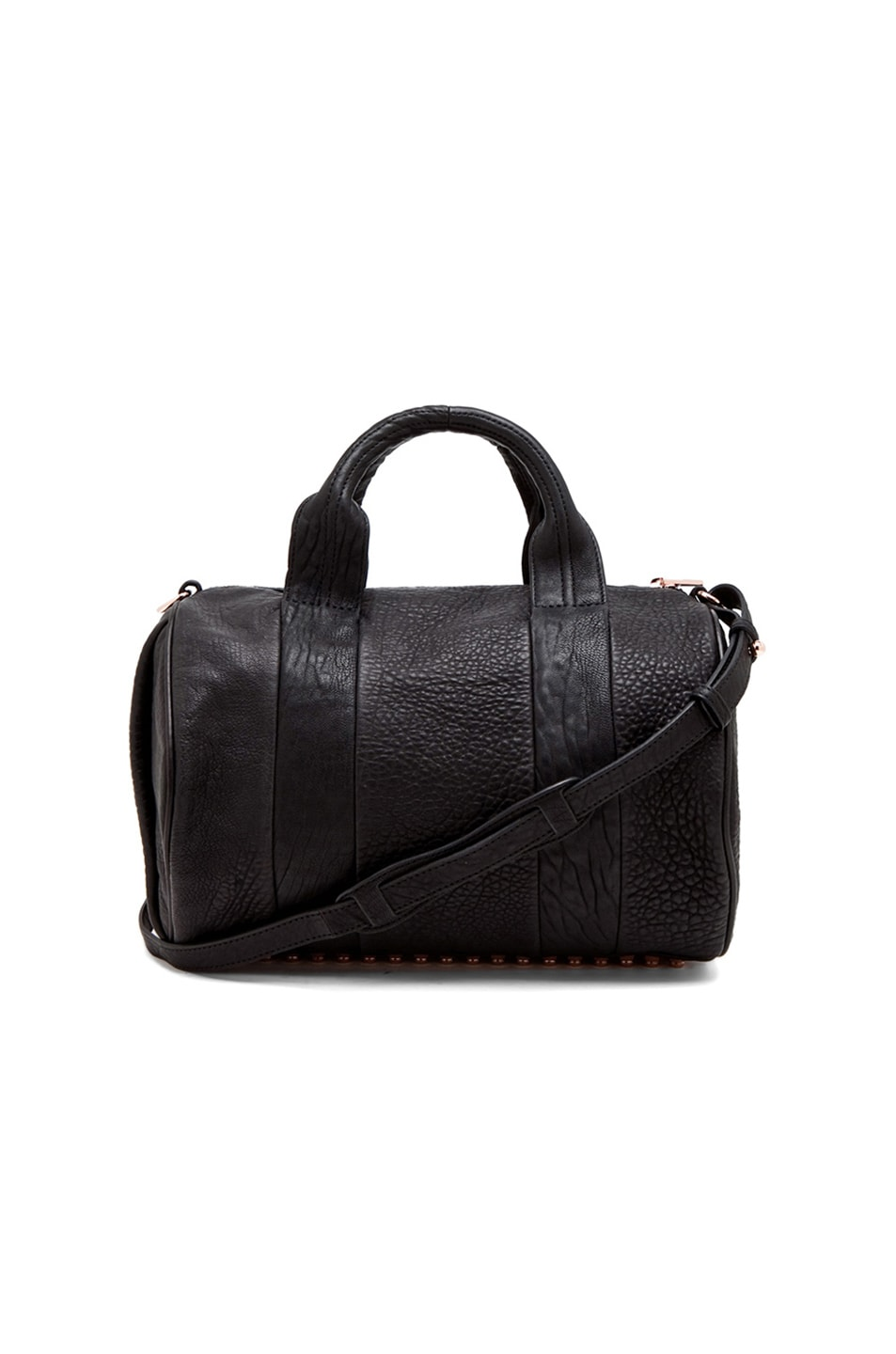 Image 1 of Alexander Wang Rocco Satchel with Rose Gold Hardware in Black