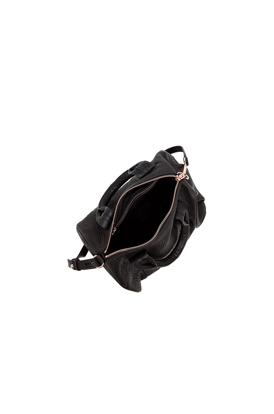 Image 4 of Alexander Wang Rocco Satchel with Rose Gold Hardware in Black