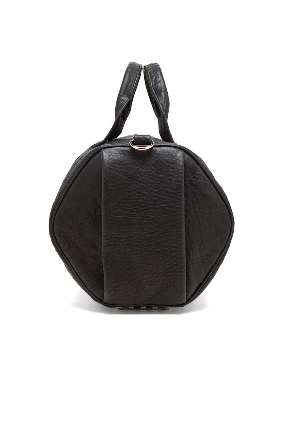 Image 7 of Alexander Wang Rocco Satchel with Rose Gold Hardware in Black
