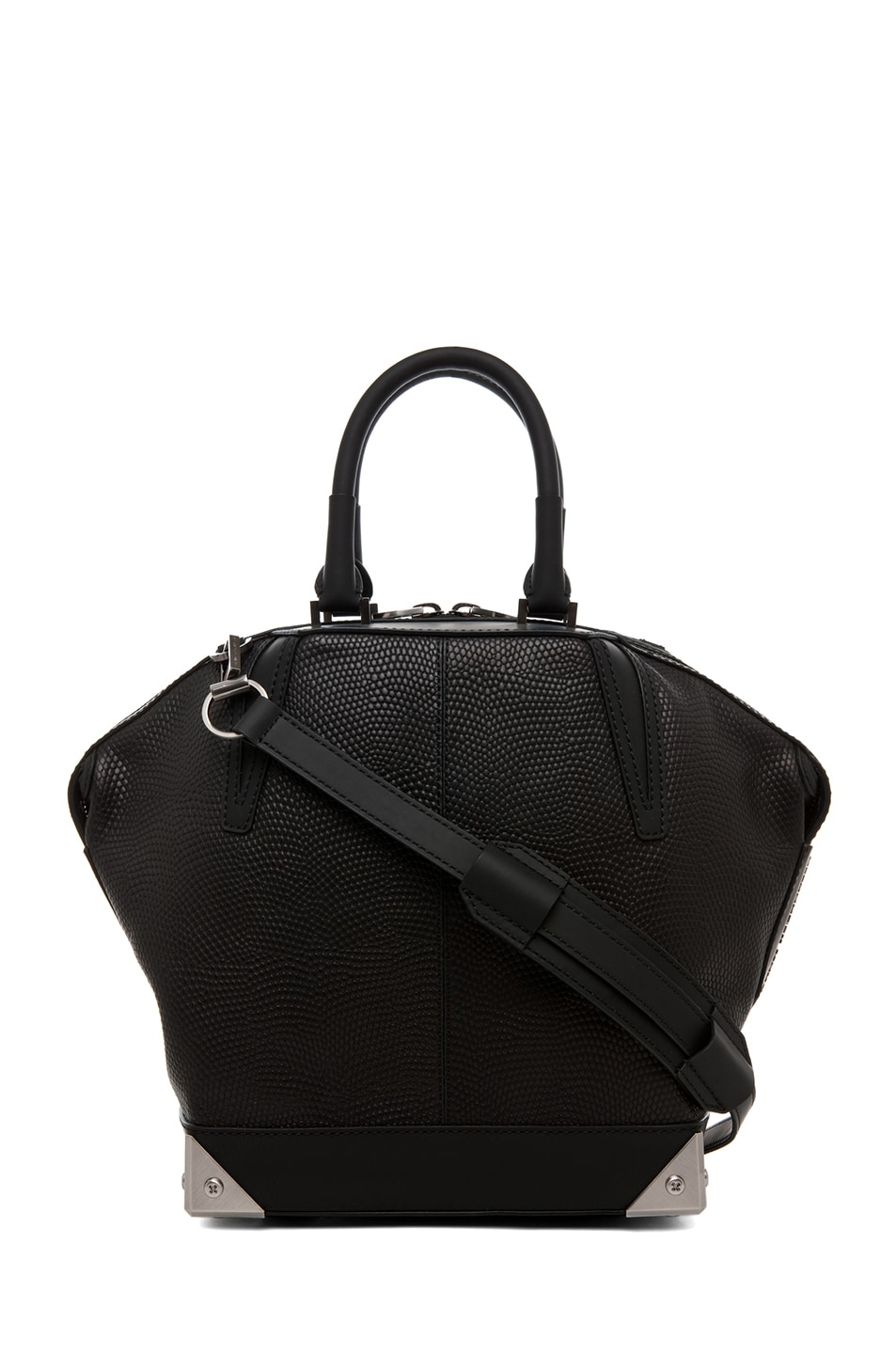 Image 1 of Alexander Wang Small Emile Lizard Print Tote in Black